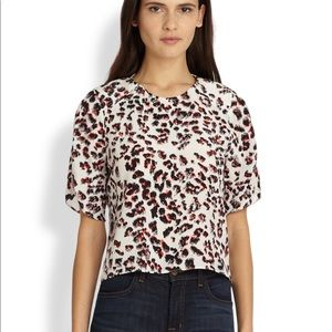 PARKER cropped cheetah top